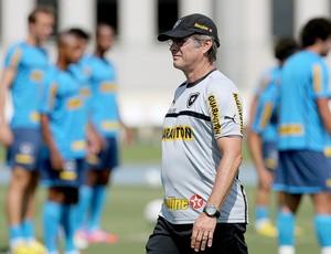 Oswaldo de Oliveira no treino do Botafogo (Foto: Satiro Sodré / Agif)