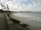 Praia de João Pessoa não está própria para banho, diz boletim da Sudema