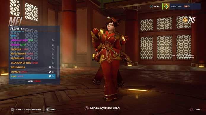 Mei ganhou duas novas skins em Overwatch (Foto: Reprodução/Murilo Molina)