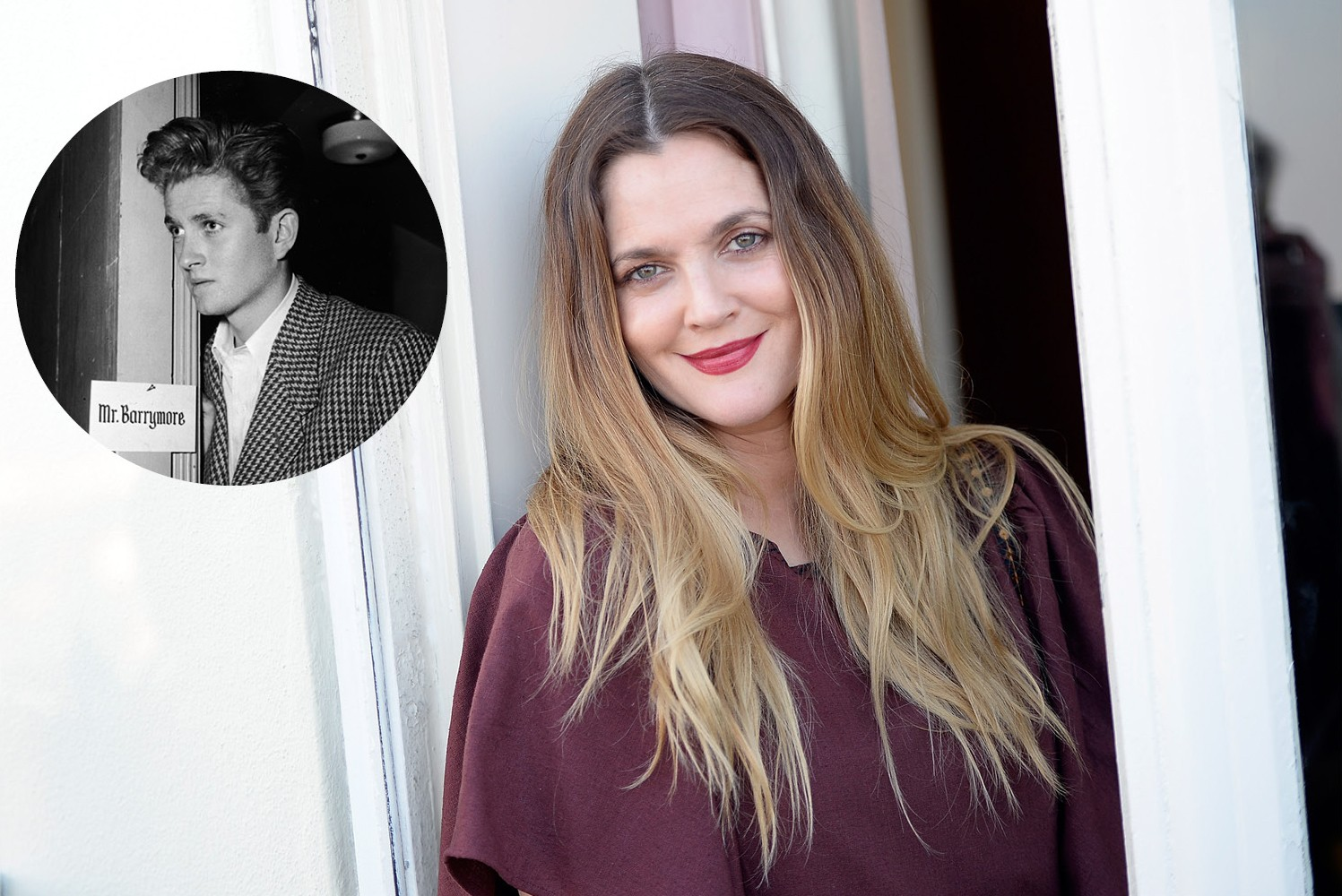 Drew Barrymore e seu pai, John Drew Barrymore (Foto: Getty Images)