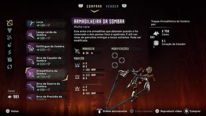 Horizon Zero Dawn: armas do conjunto Sombra são incrivelmente poderosas (Foto: Reprodução/Victor Teixeira)