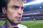 """Rodrigo Caio fala sobre lance que tirou cartão de Jô: """"Fiz só o que tinha que fazer"""""""