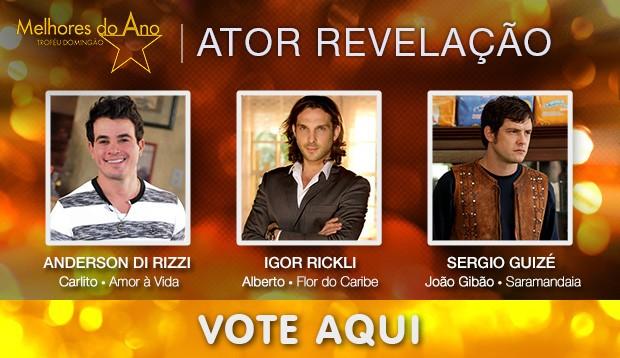 Melhores do Ano - Melhor Ator Revelação (Foto: Domingão do Faustão / TV Globo)