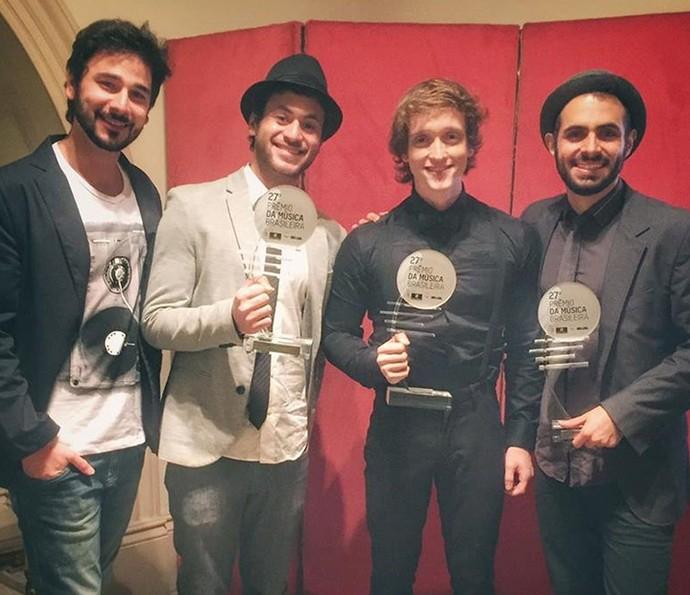 Banda Jamz, do 'SuperStar', comemora mais uma premiação: 'Realização