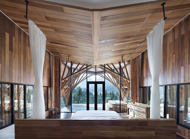 A casa conta com quarto, banheiro e terraço (Foto: Bowen hou/Divulgação)