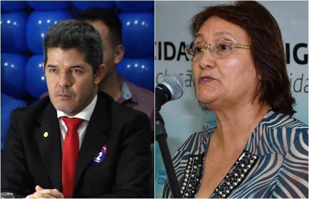 Candidato Delegado Waldir (PR) e sua vice, Rose Cruvinel (PMN) (Foto: Montagem/G1)