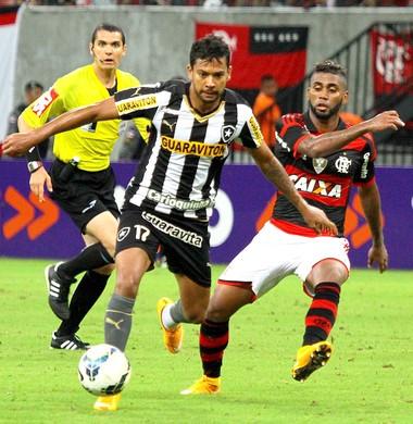 Wallyson Botafogo x Flamengo (Foto: Danilo Mello / Ag. Estado)