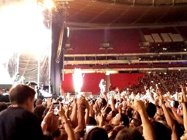 Públicp durante show do Guns N' Roses em Brasília neste domingo (20) (Foto: Lucas Nanini/G1)