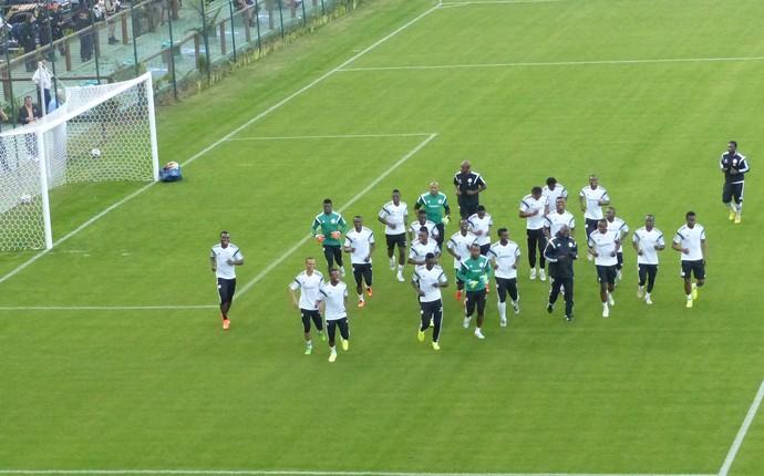 nigéria treino copa do mundo curitiba (Foto: Fernando Araújo)