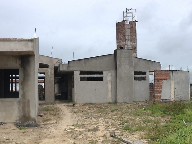 Construção de creche em Jacaraú (Foto: Reprodução/TV Cabo Branco)