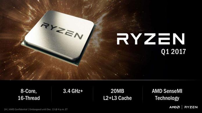Ryzen deve chegar ao mercado nos primeiros três meses de 2017 (Foto: Divulgação/AMD)