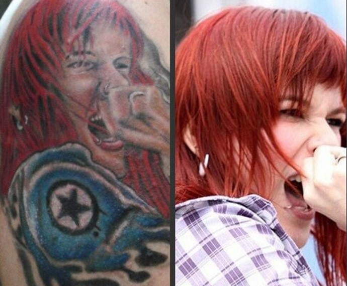 Fã tatuou o rosto de Adriane no braço  (Foto: Arquivo Pessoal)