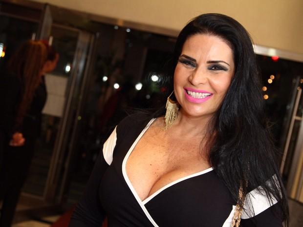 Solange Gomes em evento no Rio (Foto: Anderson Borde/ Ag. News)