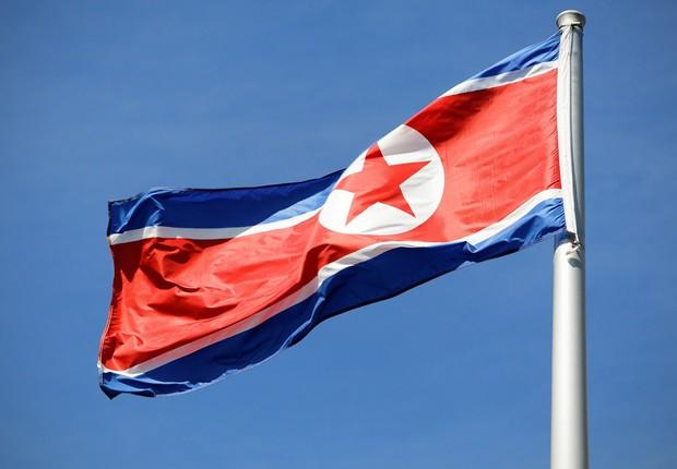 Bandeira da Coreia do Norte (Foto: Shutterstock)