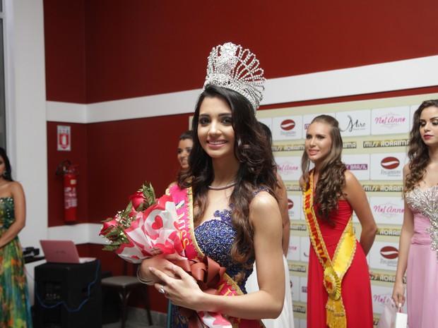 Melina Gomes, 23 anos, foi eleita Miss Roraima 2015 nesta quinta-feira (30) (Foto: Inaê Brandão/G1 RR)