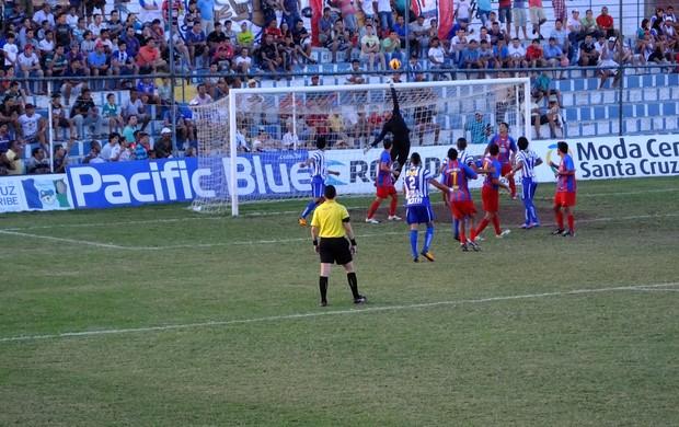 Goleiro do Tiradentes-CE, Fábio Lima, ainda não levou gol na série D   (Foto: Foto: Divulgação/Antônio Valdevino)