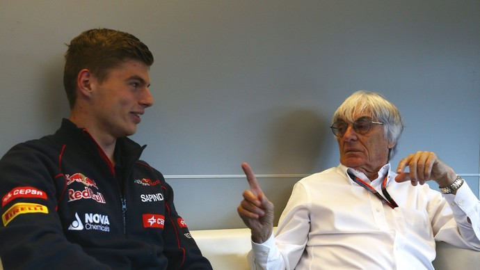 Max Verstappen e Bernie Ecclestone em entrevista ao site da Fórmula 1 (Foto: Divulgação)