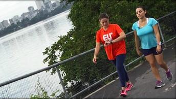 Fernanda Gentil dá dicas de  caminhada para gestantes (eu atleta)