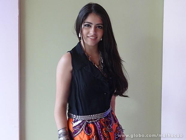 Laura Seripieri interpreta uma aluna talentosa do segundo ano (Foto: Malhação / TV Globo)