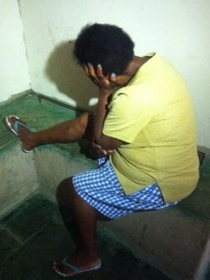 Idosa é presa em suspeita de torturar o filho com problemas mentais em Inhumas, Goiás (Foto: Luzeni Santos/TV Anhanguera)