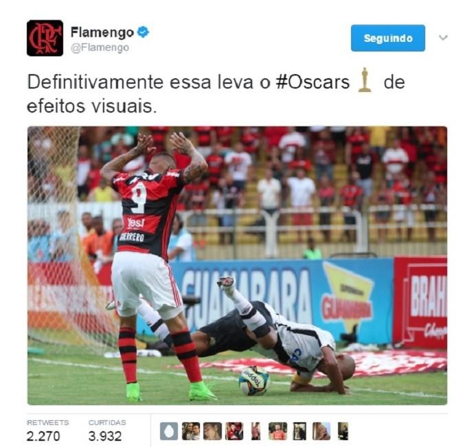 Flamengo x Vasco Guerrero e Rodrigo (Foto: Reprodução/Twitter)