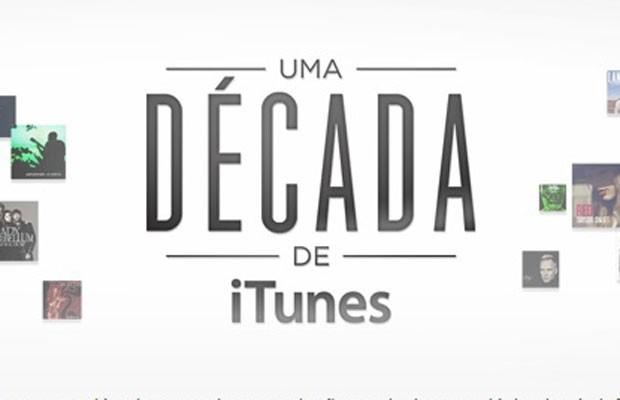 Apple criou linha do tempo comemorativa do servio de venda de música on-line iTunes (Foto: Reprodução/iTunes)