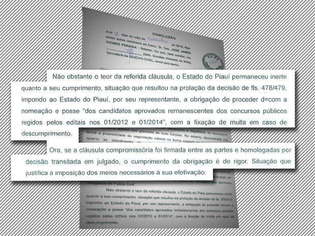 Nova decisão do TJ manda nomear aprovados na Polícia Civil do Piauí (Foto: Reprodução/tjpi.jus.br)