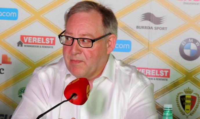 Coletiva François De Keersmaecker Presidente Associação Belga de Futebol (Foto: Petterson Rodrigues)