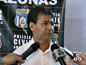Delegado da Polícia Civil  Oscar Cardoso é suspeito de envolvimento no esquema, diz SSP (Foto: Reprodução/TV Amazonas)