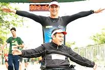 Rodrigo acha força ao lado de amigo atleta (Eu Atleta | Arte | fotos: arquivo pessoal)