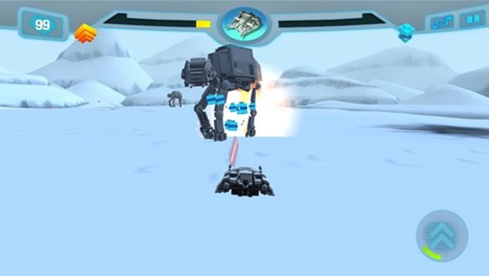 Nova aventura de Lego Star Wars para iPhone e iPad é centrada em combate com naves (Foto: Divulgação)
