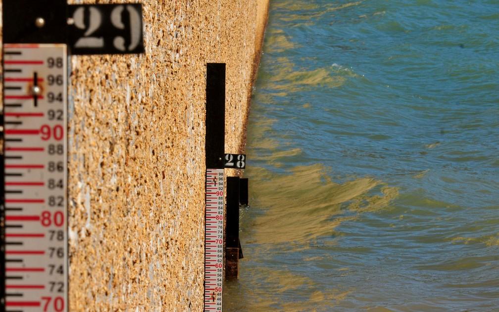 Barragem do Descoberto em 6 de junho (Foto: Tony Winston/Agência Brasília.)