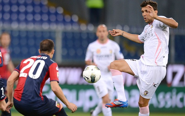Genoa x Palermo, Nicolas Bertolo e Giandomenico Mesto (Foto: Getty Images)