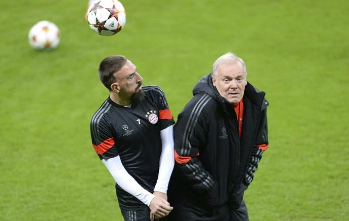 Ribéry treino Bayern (Foto: EFE)