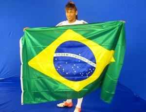 neymar na Tv tribuna,para gravação do Criança Esperança.  (Foto: Marcelo Hazan /Globoesporte.com)