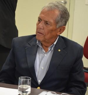 Carivaldo participou da audiência (Foto: Felipe Martins/GLOBOESPORTE.COM)