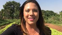 Katiuscia Reis visita a Vila Martins no quadro 'Minha Cidade, Meu Canto' (Reprodução TV Fronteira)
