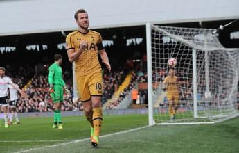 Com hat-trick de Kane, Tottenham vence o Fulham e avança na Copa