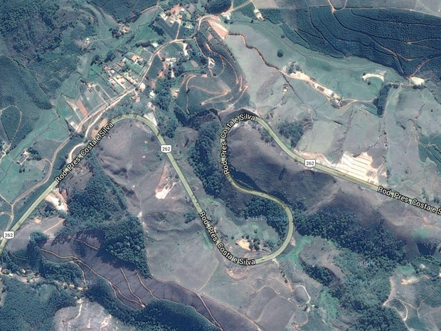 Rodovia BR-262 no Espírito Santo tem muitas curvas sinuosas (Foto: Reprodução/ Google Maps)