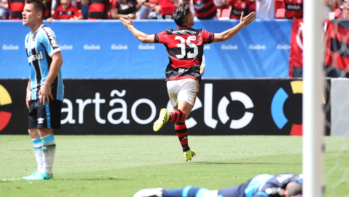 Diego Flamengo x Grêmio (Foto: Gilvan de Souza / Flamengo)