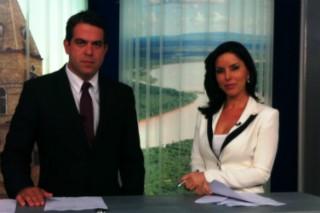 Délio Pinheiro e Patrícia Vieira apresentam as notícias da região no MG Inter TV 1ª Edição (Foto: Henrique Corrêa/Inter TV)