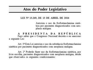 Lei foi publicada no Diário Oficial da União desta quinta-feira (Foto: Reprodução)