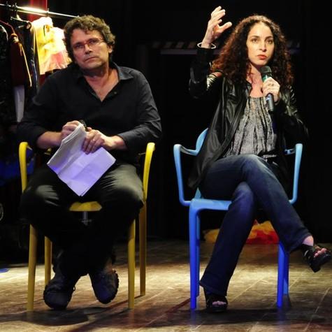 Luiz Henrique Rios e Rosane Svartman (Foto: TV Globo)