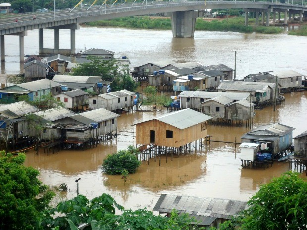 Cheia do Rio Juruá (Foto: Genival Moura/G1)