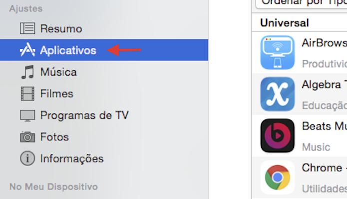 Acessando os aplicativos salvos no iTunes (Foto: Reprodução/Marvin Costa)