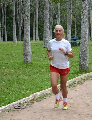 Liduina Vieira, ultramaratonista de RO (Foto: Matheus Henrique/G1)