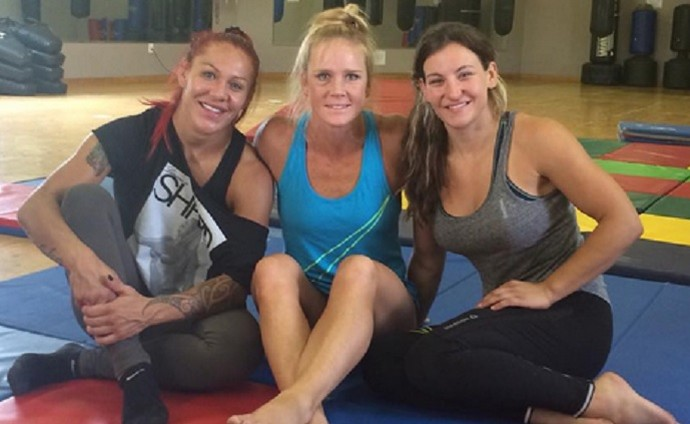 Cris Cyborg, Miesha Tate e Holly Holm (Foto: Reprodução/Instagram)