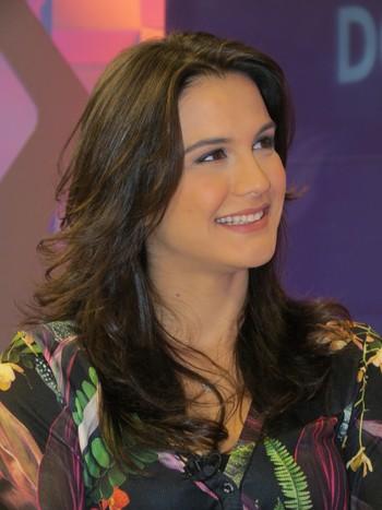 Kyra Gracie no Corujão do Esporte (Foto: Daniel Cardoso)