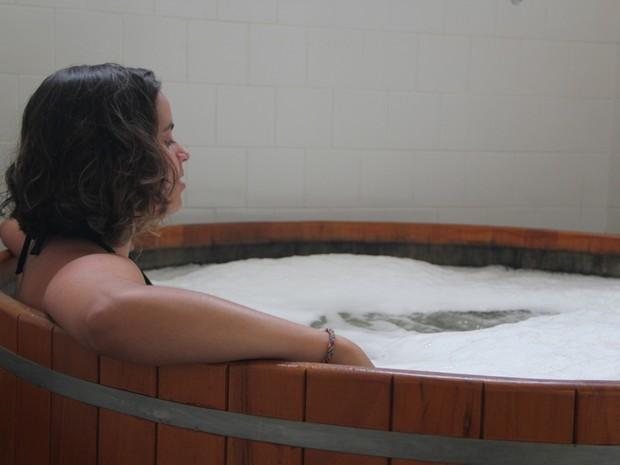 Escapada termal é uma das novidades das Thermas Antônio Carlos (Foto: Jéssica Balbino/ G1)