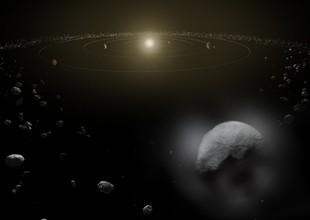 Ceres é o maior corpo do cinturão de asteroides. Por causa do tamanho, os cientistas o classificam como um planeta anão (Foto: reprodução ESA) (Foto: Reprodução/ ESA)
